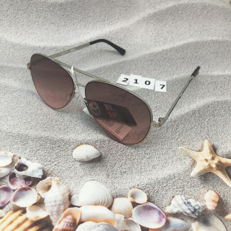 Солнцезащитные очки капли (авиатор), цвет розовый, к.2107 - Фото 2