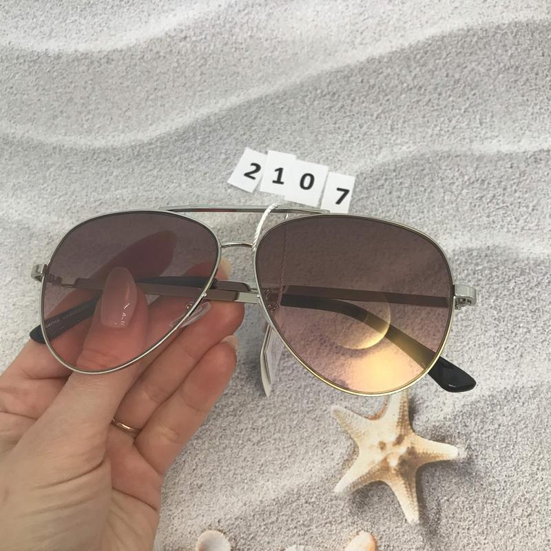 Солнцезащитные очки капли (авиатор), цвет розовый, к.2107 - Фото 4