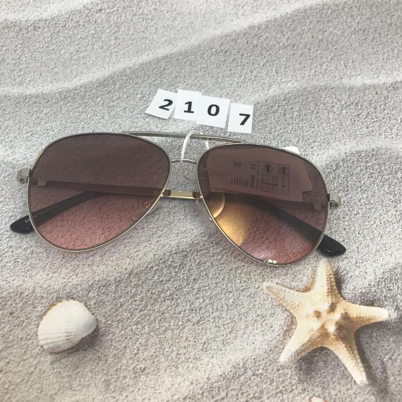 Солнцезащитные очки капли (авиатор), цвет розовый, к.2107 - Фото 5