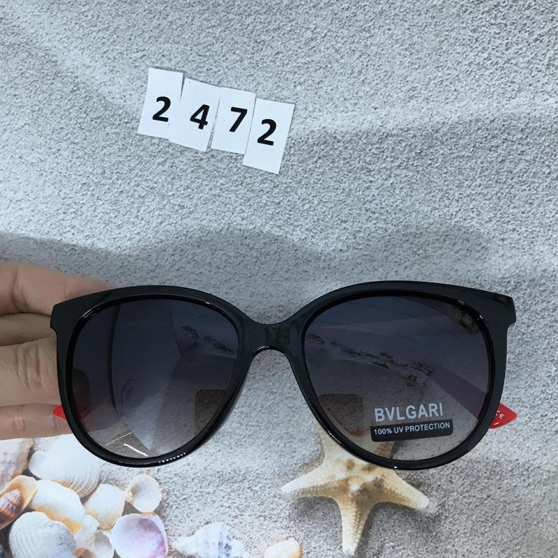 Модные черные очки з красними дужками к. 2472 - Фото 2