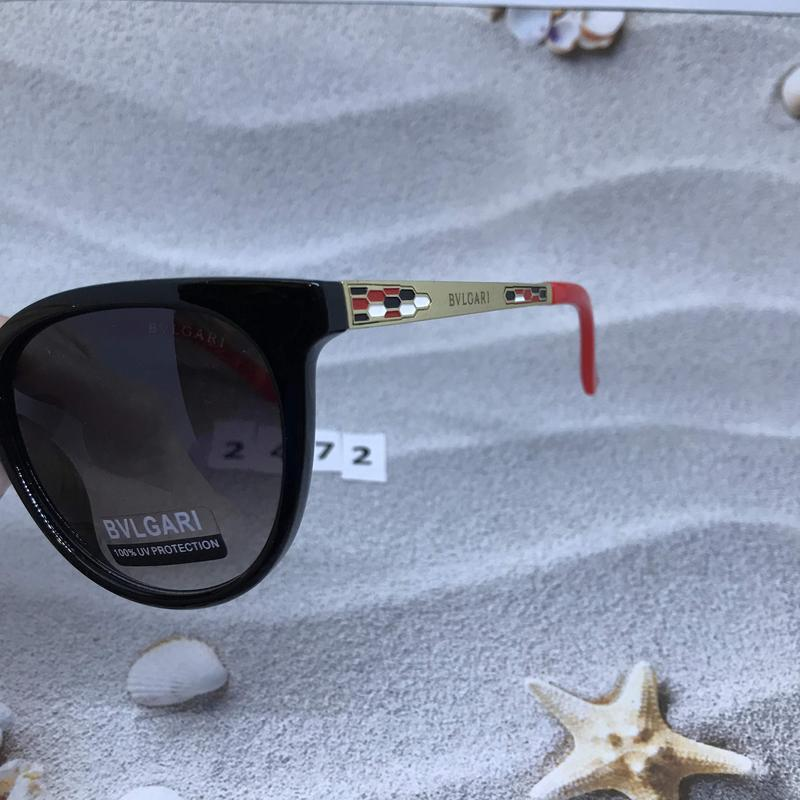 Модные черные очки з красними дужками к. 2472 - Фото 3