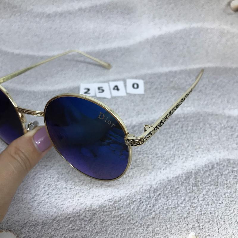 Круглые черные очки в золотистой оправе к. 2540 - Фото 3