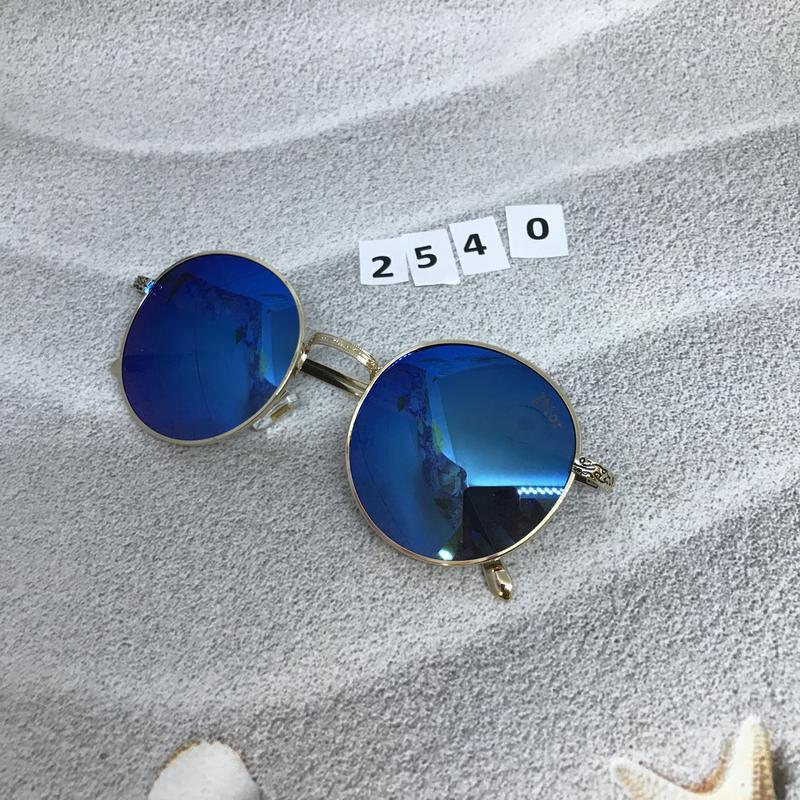 Круглые черные очки в золотистой оправе к. 2540 - Фото 5