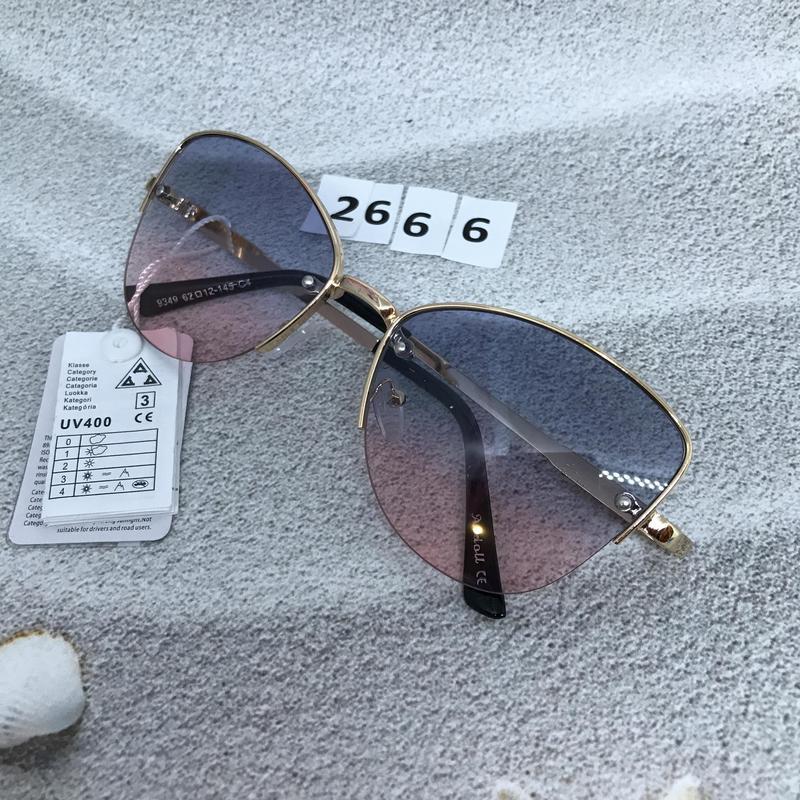 Трендовые солнцезащитные очки к. 2666 - Фото 4