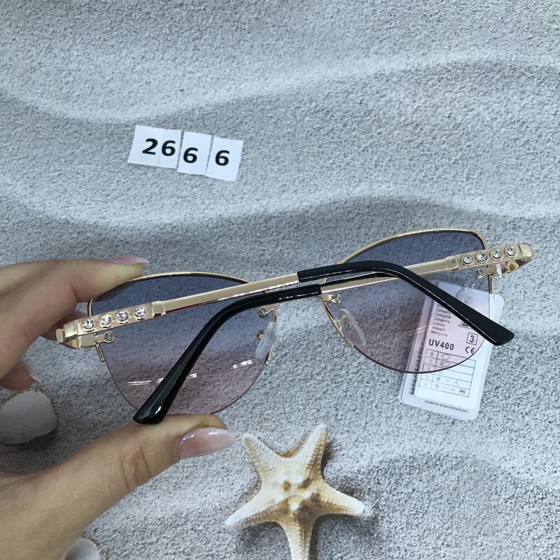 Трендовые солнцезащитные очки к. 2666 - Фото 5