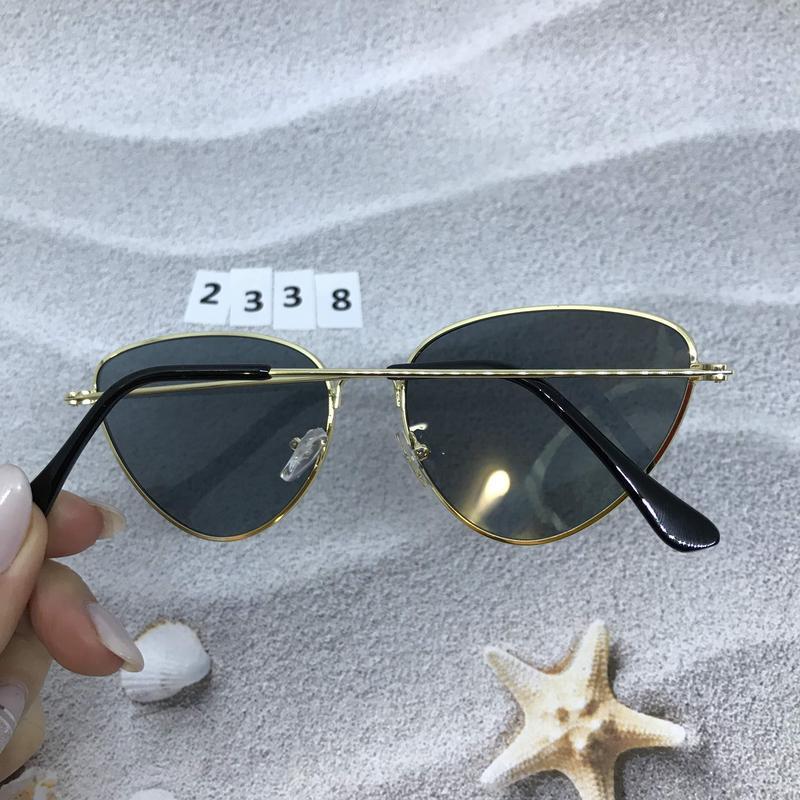 Черные очки в золотой оправе к. 2338 - Фото 2