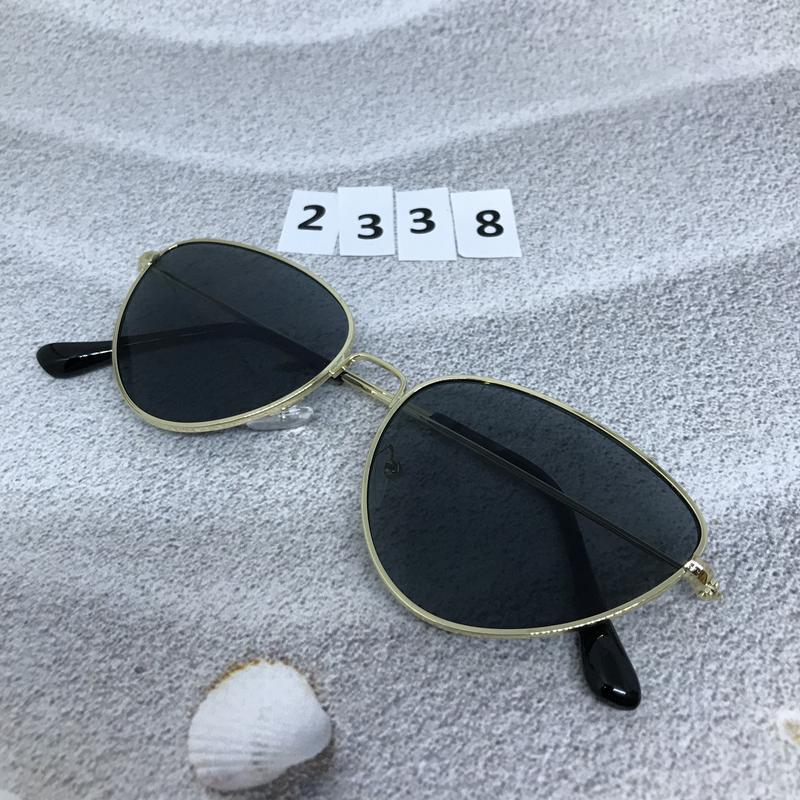 Черные очки в золотой оправе к. 2338 - Фото 3