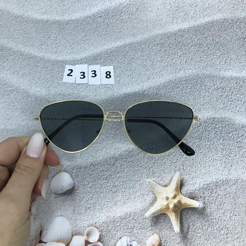 Черные очки в золотой оправе к. 2338 - Фото 4