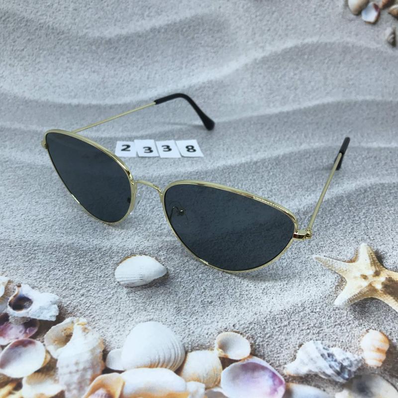 Черные очки в золотой оправе к. 2338 - Фото 5