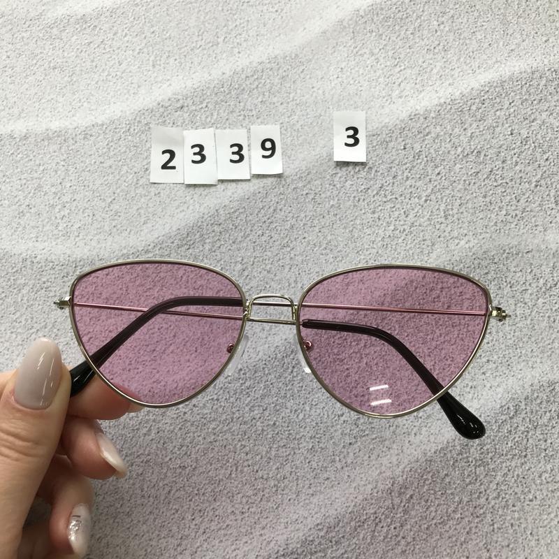 Стильные розовые очки к. 2339-3