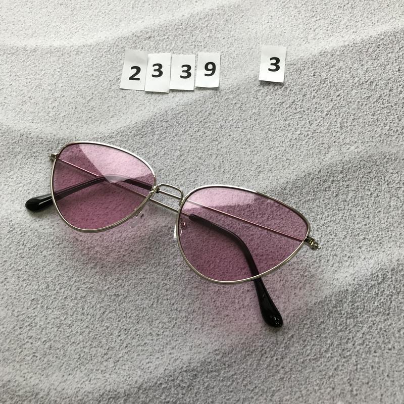 Стильные розовые очки к. 2339-3 - Фото 2
