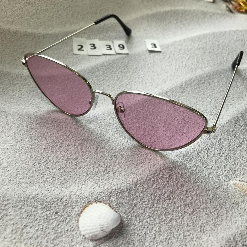 Стильные розовые очки к. 2339-3 - Фото 3