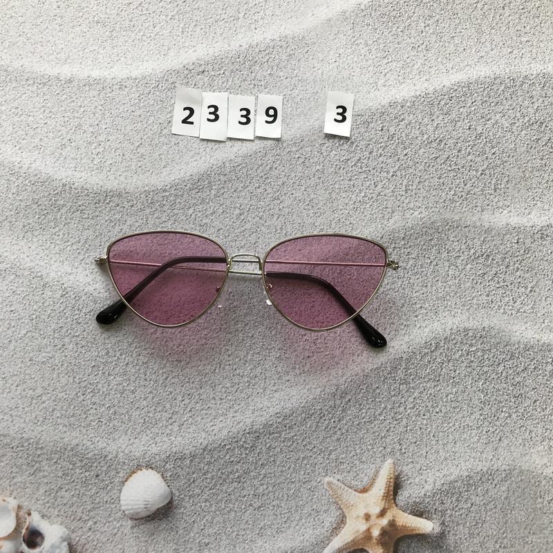 Стильные розовые очки к. 2339-3 - Фото 4