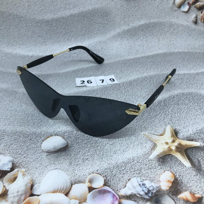 Стильные соллнцезащитные очки черные к. 2679 - Фото 3