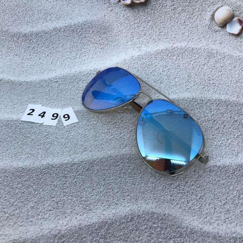 Стильные голубые очки в форме капли  к. 2499 - Фото 3