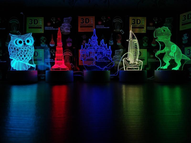 3D Лампы / Нічник 3D / Ночник 3Д / Светильник 3Д/ Вставки ночник