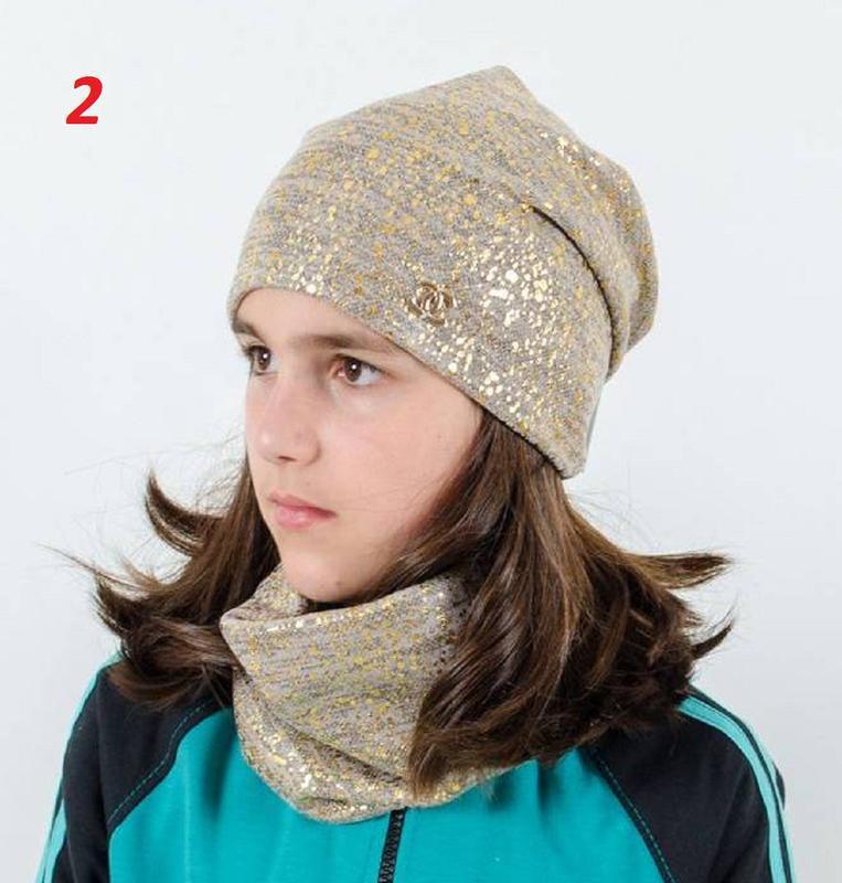 Комплект, шапка и хомут - Фото 2