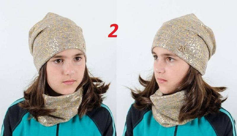Комплект, шапка и хомут - Фото 4