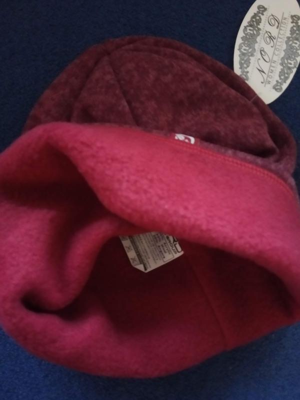 Шапка на флисовой подкладке и хомут: комплект - Фото 8