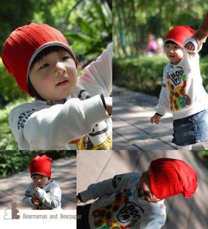 Комплект из двух шапок маме и ребенку - Фото 4