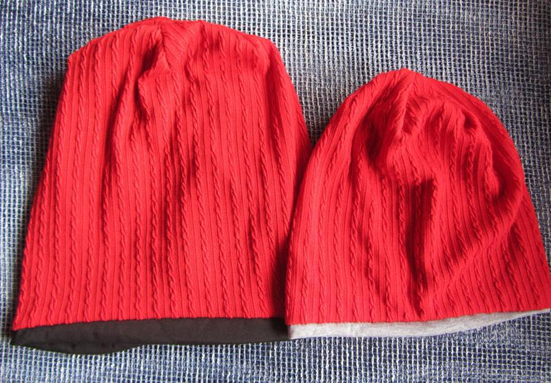 Комплект из двух шапок маме и ребенку - Фото 8