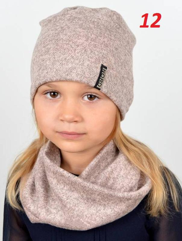 Весенний набор для девочки, шапка, хомут - Фото 2