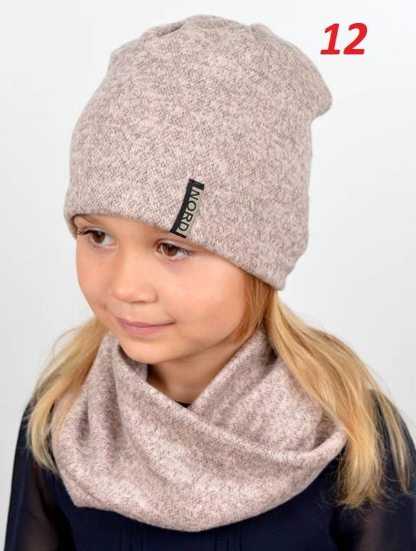 Весенний набор для девочки, шапка, хомут - Фото 6