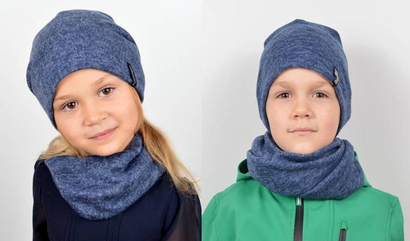Комплект для девочек, шапка и хомут - Фото 4