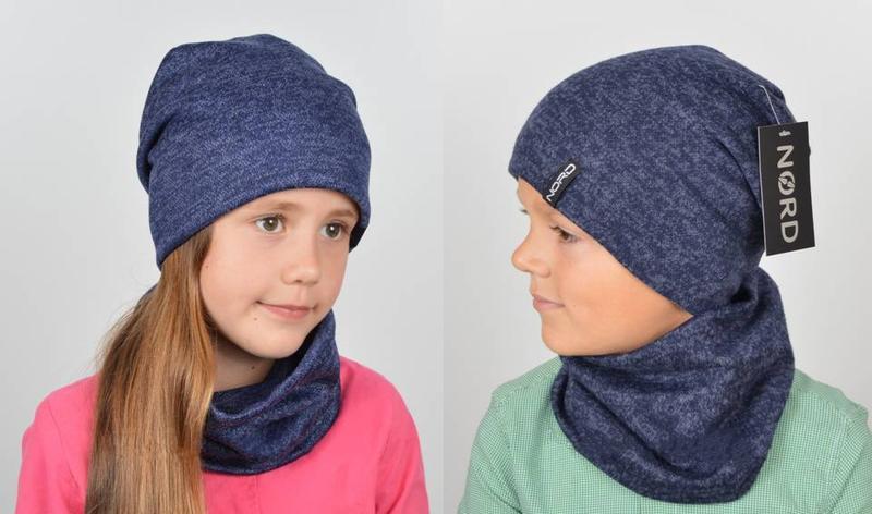 Комплект для девочек, шапка и хомут - Фото 5