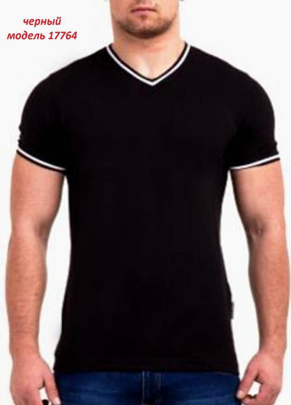 Мужская однотонная футболка, цвет: черный.