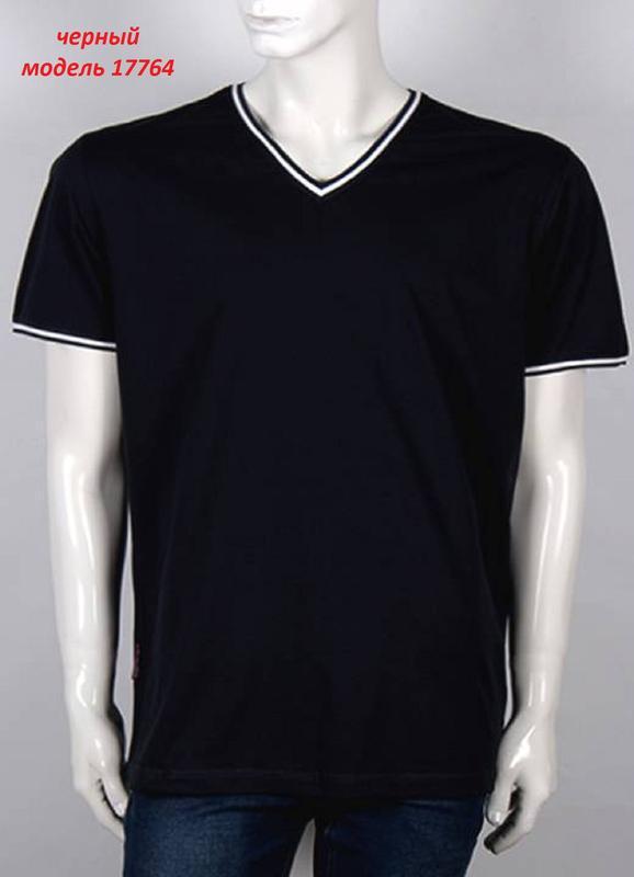 Мужская однотонная футболка, цвет: черный. - Фото 11