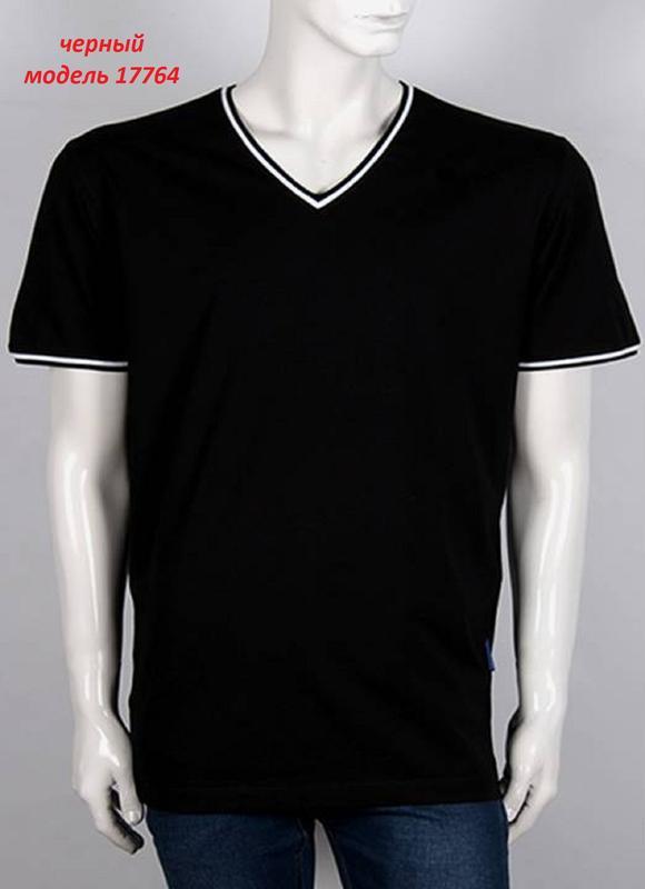 Мужская однотонная футболка, цвет: черный. - Фото 4