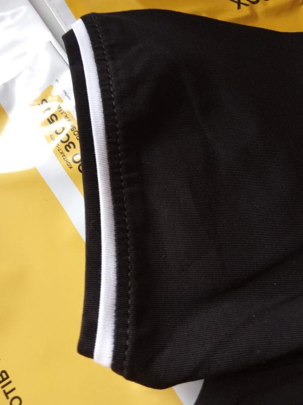 Мужская однотонная футболка, цвет: черный. - Фото 6