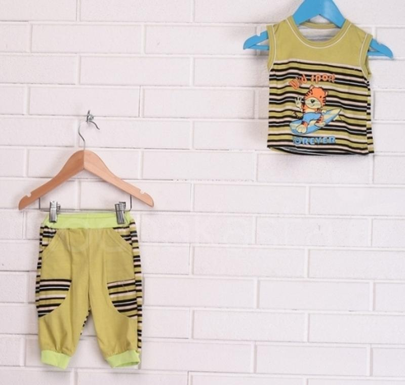 Детская футболка и бриджи, летний детский костюм