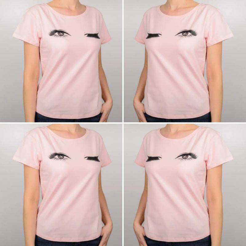 Женская футболка, глазки