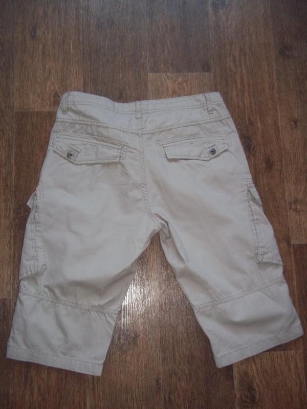 Легкие летние шорты бриджи карго clockhouse - Фото 2