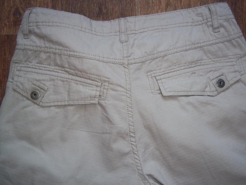Легкие летние шорты бриджи карго clockhouse - Фото 4