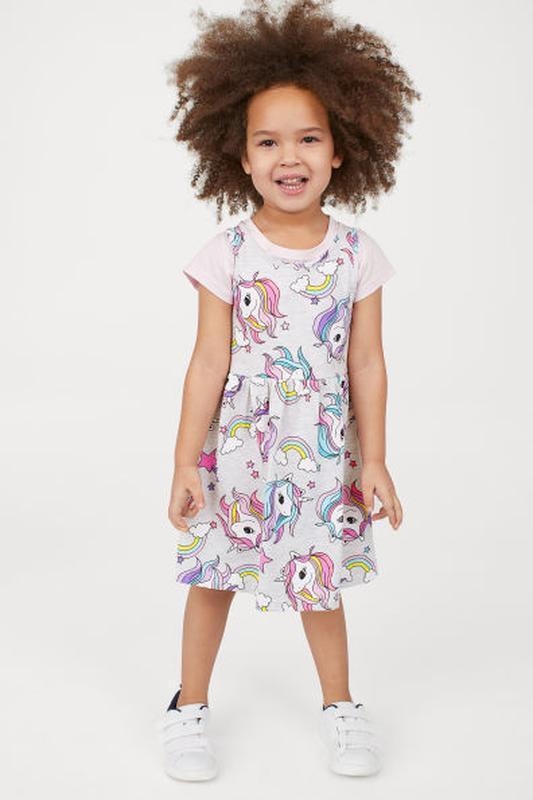 Платье новое h&m на 2-4 года