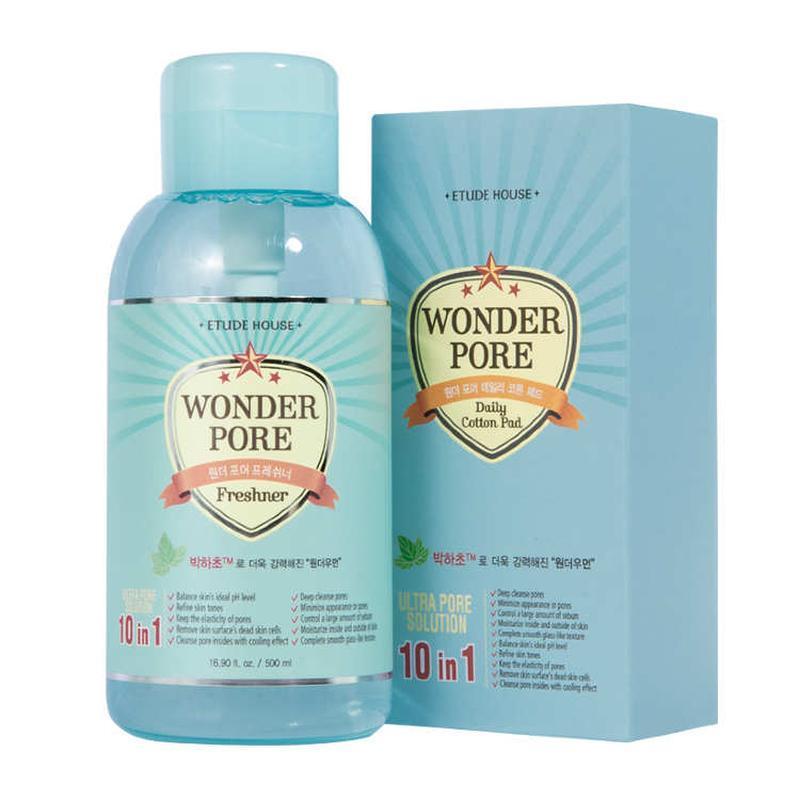 Тонер для очищения пор, 250мл, etude house wonder pore freshner