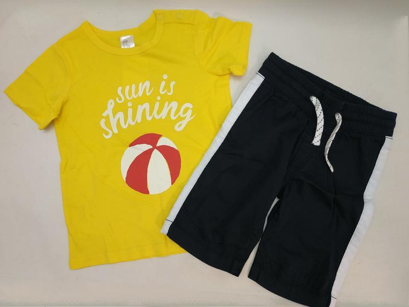 Футболка и шорты h&m для мальчика 1.5-2 года