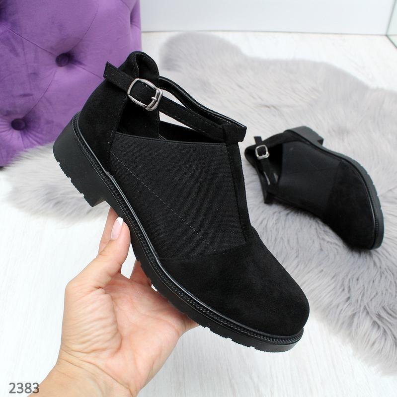 Стильные череые туфельки новиночка - Фото 2