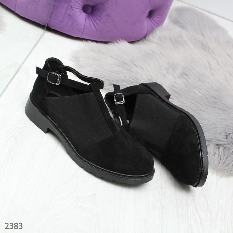 Стильные череые туфельки новиночка - Фото 3