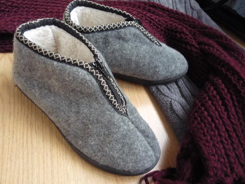Удобные фетровые ботинки / тапки на меху / р. 38 - Фото 2