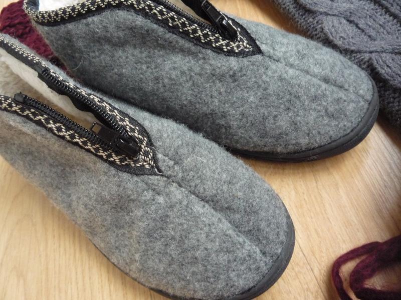Удобные фетровые ботинки / тапки на меху / р. 38 - Фото 5
