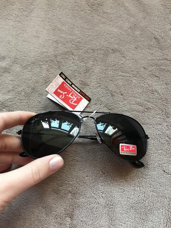 Чёрные солнцезащитные очки - Фото 4