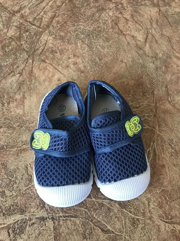 Синие детские мокасины - Фото 5