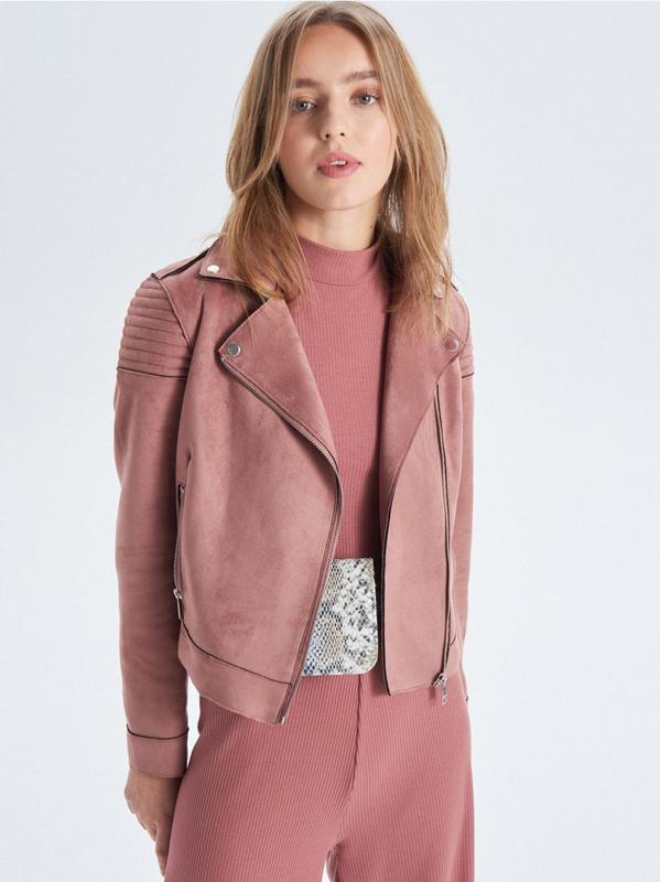!продам новую женскую демисезоную замшевую куртку косуху ветро...