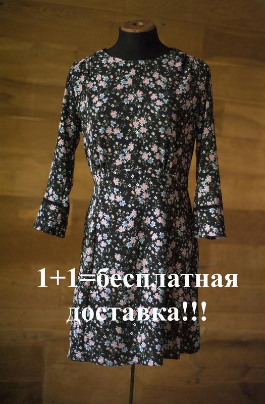 Красивенное платье с цветочным принтом divided, размер m - Фото 2