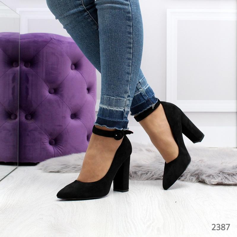 Стильные черные туфельки - Фото 2
