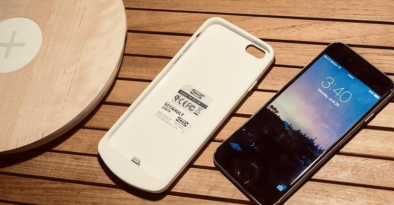 Чехол для беспроводной зарядки iphone 6 / 6s ikea vitahult !